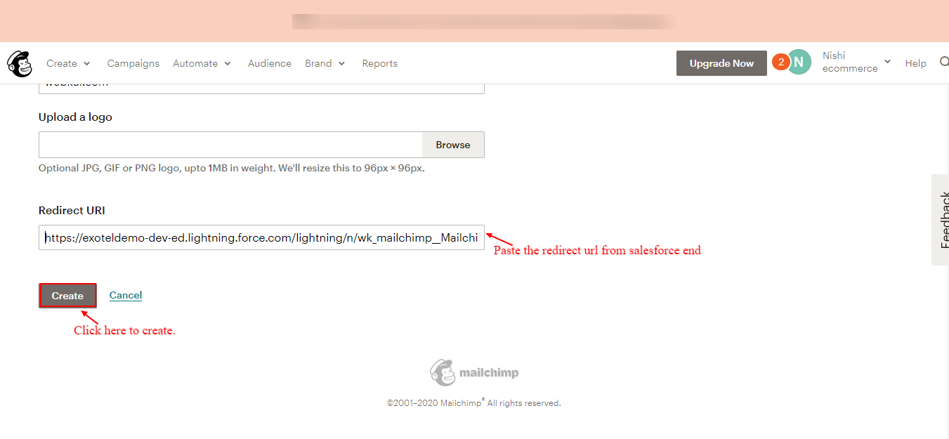 Redirect Url Page