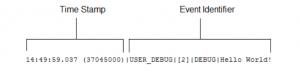 debug log detail fromat